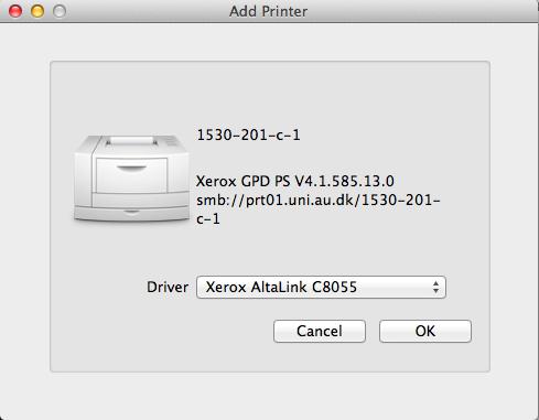 Om printeren 1530-201-c-1